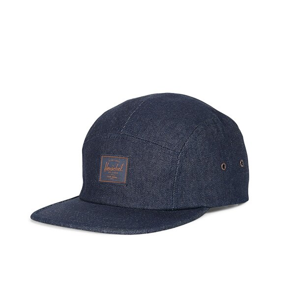【EST】HERSCHEL GLENDALE 經典款 硬版 後調式 五分割帽 棒球帽 丹寧 深藍 [HS-1007-211] G0815 0