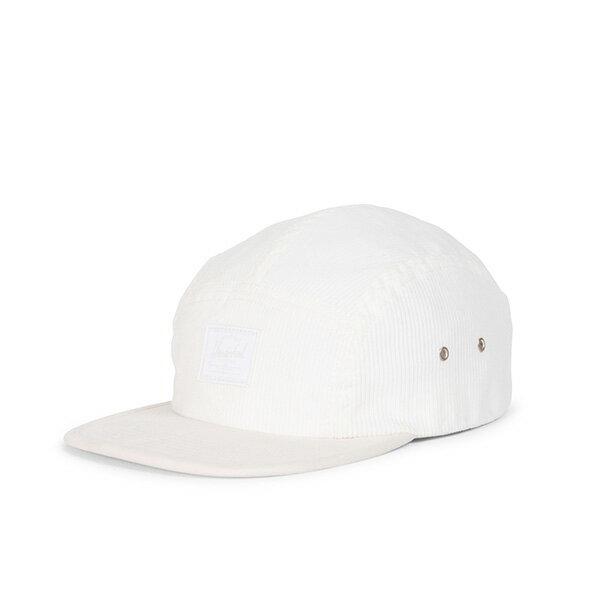 【EST】HERSCHEL GLENDALE 經典款 硬版 後調式 五分割帽 棒球帽 絨布 白 [HS-1007-213] G0815 0