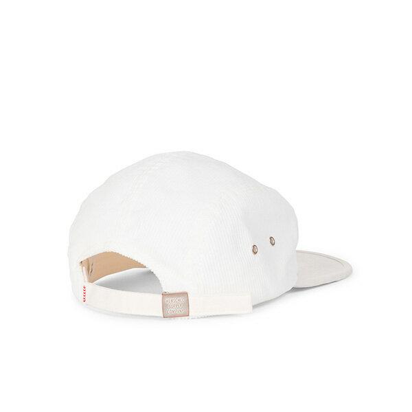 【EST】HERSCHEL GLENDALE 經典款 硬版 後調式 五分割帽 棒球帽 絨布 白 [HS-1007-213] G0815 1