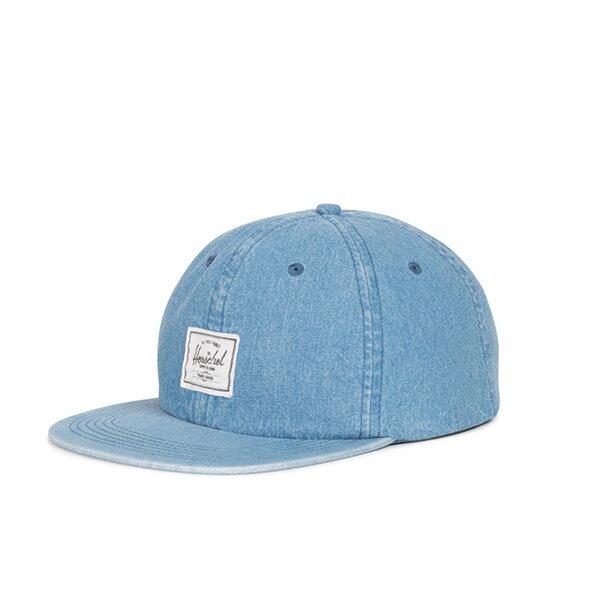 【EST】Herschel Albert 後調式 棒球帽 丹寧 淺藍 [HS-1020-171] G0422 0