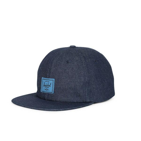 【EST】HERSCHEL ALBERT 後調式 棒球帽 丹寧 深藍 [HS-1020-172] G0422 0