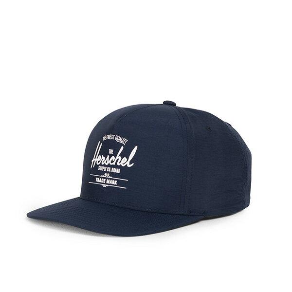 【EST】HERSCHEL WHALER 經典LOGO 後扣 棒球帽 尼龍 深藍 [HS-1026-166] G0422 0