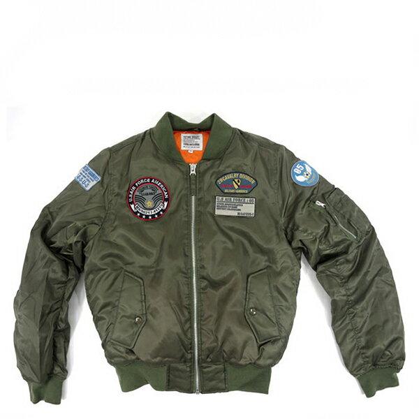 【EST】日本限定 Marukawa Ma-1 拼布 空軍飛行外套 綠 [JP-0004-497] G1003 0