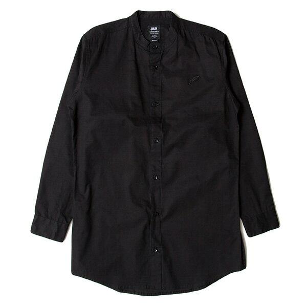 【EST】Publish D1 Sandon 長版 圓領 長袖 襯衫 黑 [PL-5357-002] F1102 0