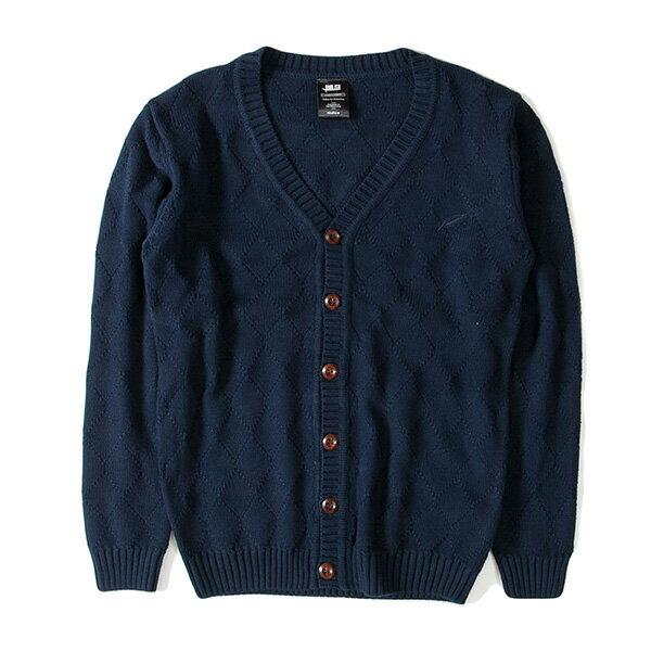 【EST】Publish D1 Delly 針織 菱格紋 開襟 毛衣 外套 黑 [PL-5360-086] F1102 0