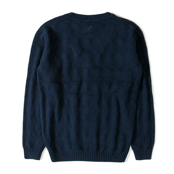 【EST】Publish D1 Delly 針織 菱格紋 開襟 毛衣 外套 黑 [PL-5360-086] F1102 1
