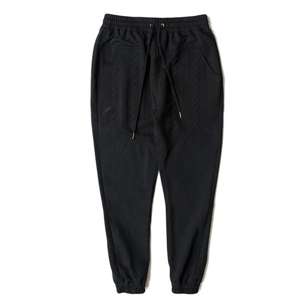 【EST】Publish D1 Dillon Jogger 拼接 壓紋 棉褲 長褲 束口褲 黑 [PL-5364-002] F1102 0