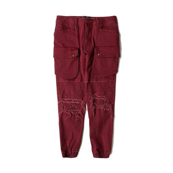 【EST】Publish D1 Crow 水洗 破壞 大口袋 工作褲 長褲 束口褲 紅 [PL-5367-072] F1102 0