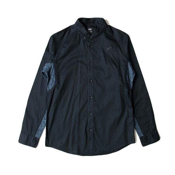 【EST】PUBLISH D1 MARVIN 拼接 雪花紋 長袖 襯衫 深藍 [PL-5370-086] F1102 0