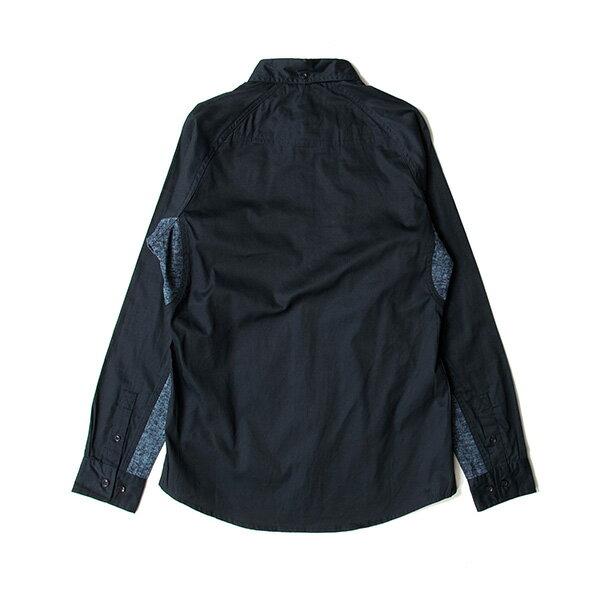 【EST】PUBLISH D1 MARVIN 拼接 雪花紋 長袖 襯衫 深藍 [PL-5370-086] F1102 1