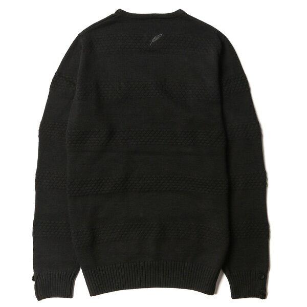 【EST】PUBLISH NEIL D1 壓紋 滾邊 針織 毛衣 長TEE 黑 [PL-5372-002] F1104 1