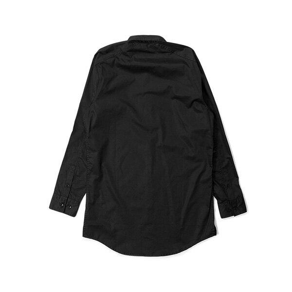 【EST】Publish Mono 3 Fornax 長版 長袖 襯衫 黑 [PL-5386-002] G0126 1