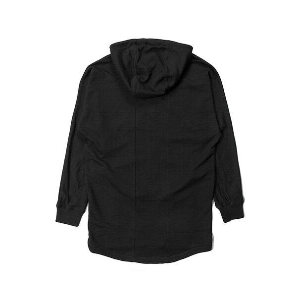 【EST】PUBLISH MONO 3 HYDRA 長版 連帽外套 帽夾 黑 [PL-5390-002] G0126 1