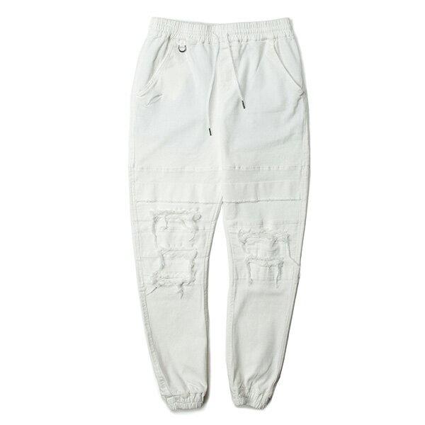 【EST】PUBLISH SHOOTER 破壞 綁帶 長褲 束口褲 白 [PL-5396-001] G0129 0