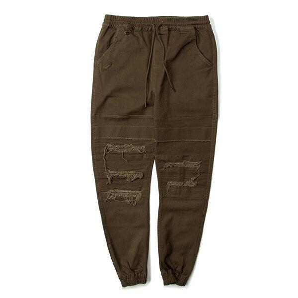 【EST】Publish Shooter 破壞 綁帶 長褲 束口褲 橄欖綠 [PL-5396-035] G0129 0