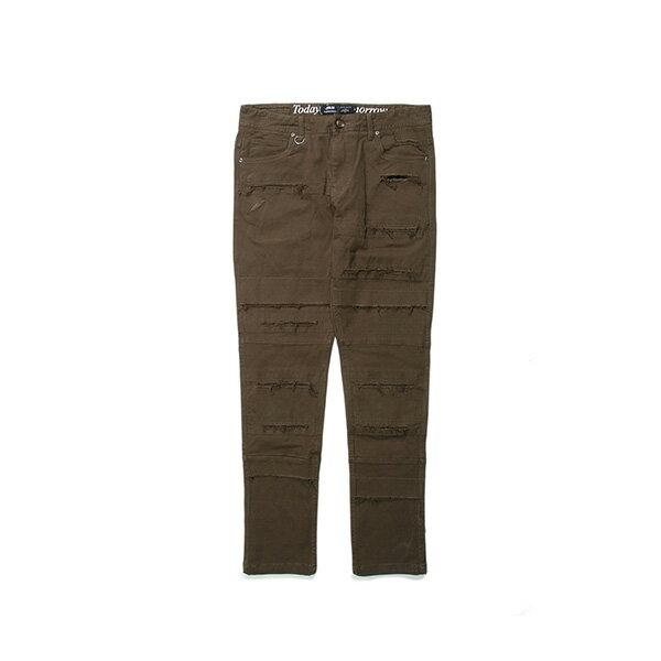 【EST】Publish Ogden 破壞 窄版 直筒褲 長褲 墨綠 [PL-5408-723] G0503 0