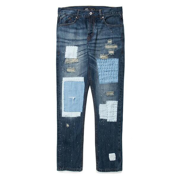 【EST】Publish Snyder Patch 潑漆破壞貼布牛仔褲 靛藍 [PL-5446-086] G1209