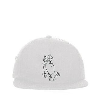 【EST】Ripndip Lord Nermal 祈禱手中指貓棒球帽 五分割帽 白 [RD-0024-001] H0126