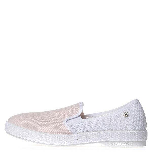 【EST】Rivieras 15度° 1532 半洞洞 拼接 懶人鞋 粉白 [RV-1532-066] F0623 0