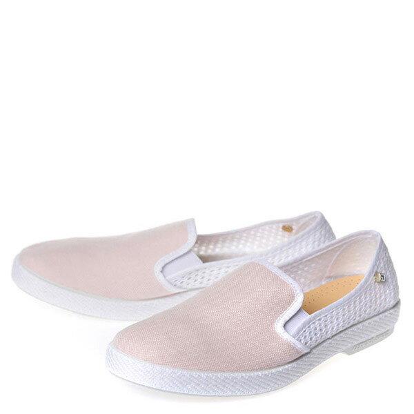 【EST】Rivieras 15度° 1532 半洞洞 拼接 懶人鞋 粉白 [RV-1532-066] F0623 1