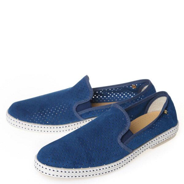 【EST】RIVIERAS 30度° 3036 洞洞 麂皮 懶人鞋 藍 [RV-3036-488] F0805 1