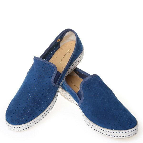 【EST】Rivieras 30度° 3036 洞洞 麂皮 懶人鞋 藍 [RV-3036-488] F0805 2