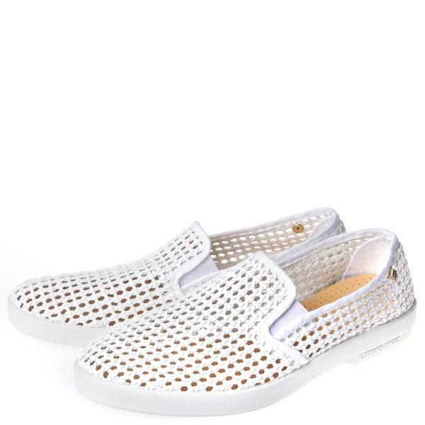 【EST】Rivieras 30度° 3100 洞洞 編織 懶人鞋 白 [RV-3100-001] F0406 1