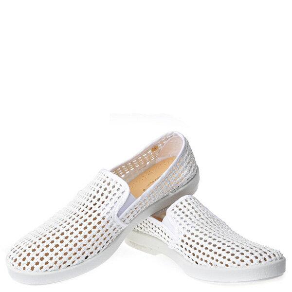 【EST】Rivieras 30度° 3100 洞洞 編織 懶人鞋 白 [RV-3100-001] F0406 2