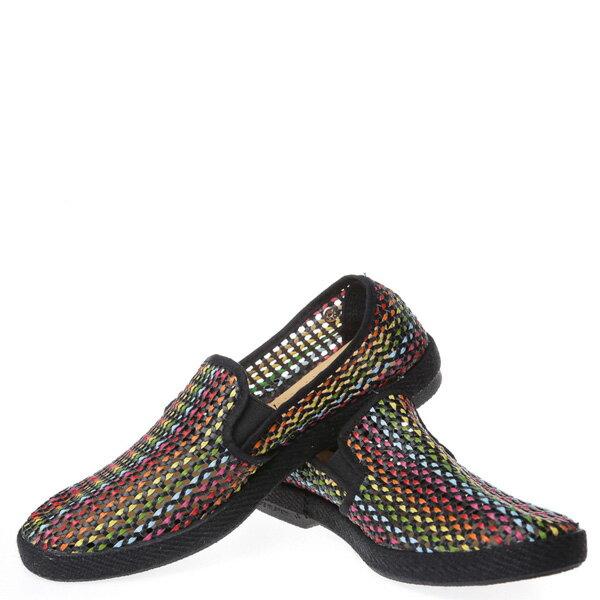 【EST】Rivieras 30度° 3123 洞洞 編織 懶人鞋 彩虹 黑底 [RV-3123-002] F0406 2