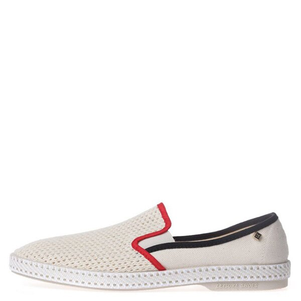 【EST】RIVIERAS 20度° 9201 半洞洞 懶人鞋 米白底 紅黑線 [RV-9201-001] F0330 0