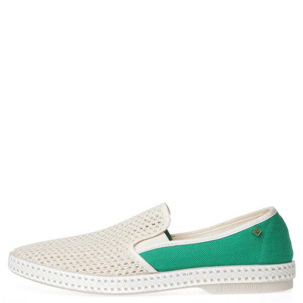 【EST】Rivieras 20度° 9207 半洞洞 拼接 懶人鞋 白綠 [RV-9207-001] F0406 0