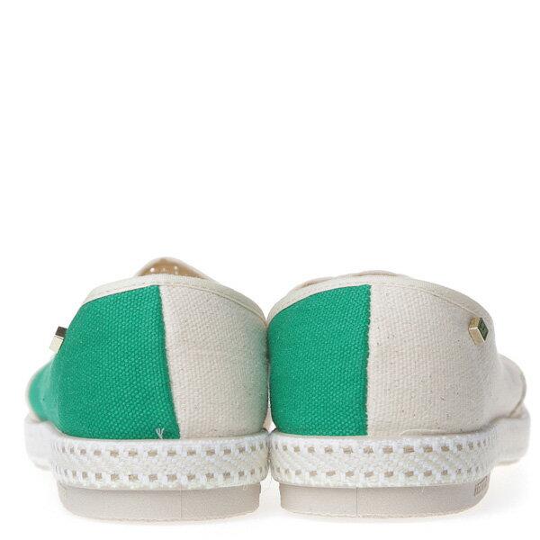 【EST】Rivieras 20度° 9207 半洞洞 拼接 懶人鞋 白綠 [RV-9207-001] F0406 3