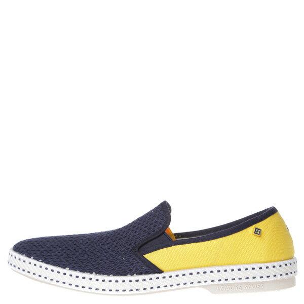 《限時5折↘免運》【EST】Rivieras 20度° 9208 半洞洞 拼接 懶人鞋 藍黃 [RV-9208-086] F0406 0