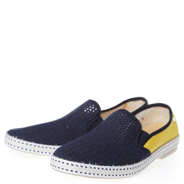【EST】Rivieras 20度° 9208 半洞洞 拼接 懶人鞋 藍黃 [RV-9208-086] F0406 1