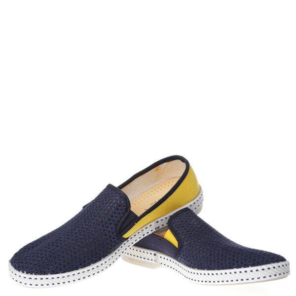 《限時5折↘免運》【EST】Rivieras 20度° 9208 半洞洞 拼接 懶人鞋 藍黃 [RV-9208-086] F0406 2