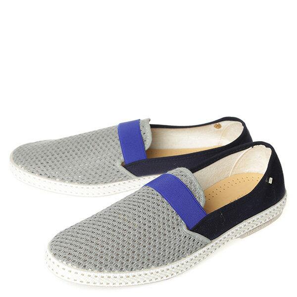 【EST】RIVIERAS 20度° 9272 半洞洞 拚色 懶人鞋 白灰藍 [RV-9272-XXX] G0428 1