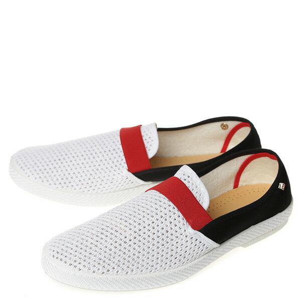 【EST】Rivieras 20度° 9281 半洞洞 拚色 懶人鞋 黑紅白 [RV-9281-XXX] G0428 1