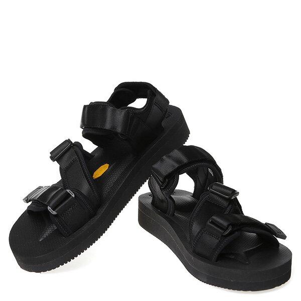 【EST】Suicoke Kisee-V Og-044V 日本 復古 厚底 魔鬼氈 織帶 涼鞋 黑 [SK-044V-002] G0512 2