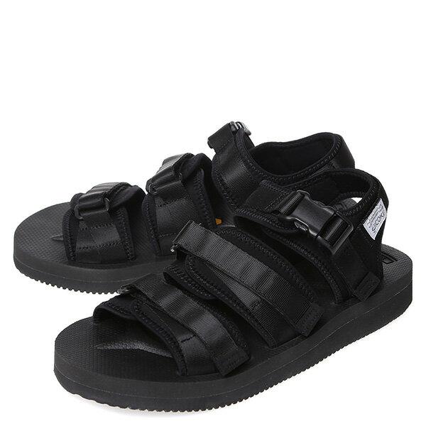 【EST】Suicoke Gga Sk-Og-052V 日本 復古 厚底 魔鬼氈 織帶 涼鞋 黑 [SK-052V-002] G0512 1