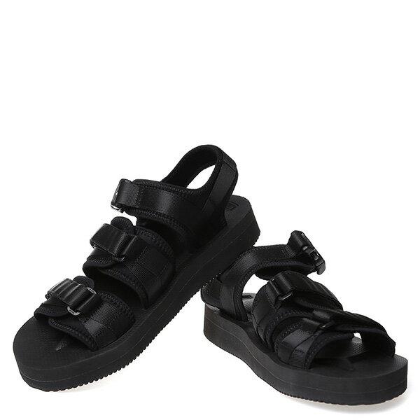 【EST】Suicoke Gga Sk-Og-052V 日本 復古 厚底 魔鬼氈 織帶 涼鞋 黑 [SK-052V-002] G0512 2