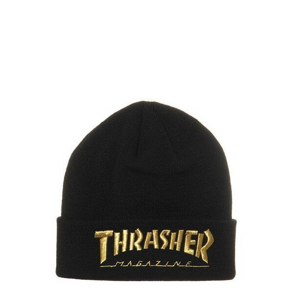 【EST】Thrasher Embroidered Logo 3D 刺繡 火焰 毛帽 金 [TH-0018-021] H0105