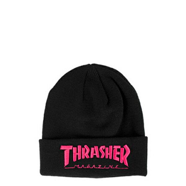 【EST】Thrasher Embroidered Logo 3D 刺繡 火焰 毛帽 桃紅 [TH-0018-066] H0105