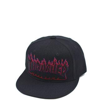 【EST】Thrasher Flame Logo Snapback 火焰 後扣 棒球帽 藍紅 [TH-0027-086] H0105