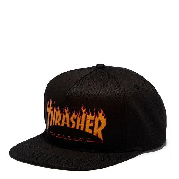 【EST】Thrasher Flame Logo Snapback 火焰 電繡 棒球帽 黑 [TH-0030-002] H0105