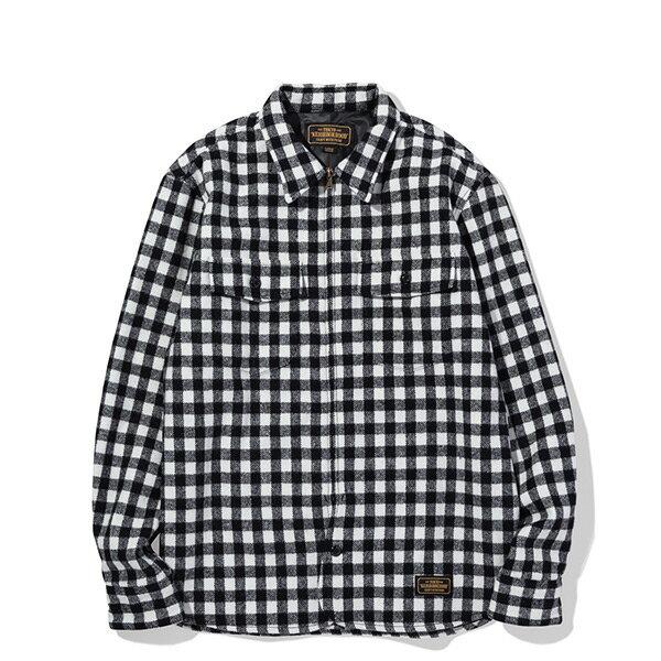 【ESTO】NeighborhoodBUFFALOWE-SHIRT.LS格紋長袖襯衫黑白H1016