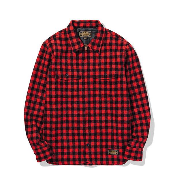 【ESTO】NeighborhoodBUFFALOWE-SHIRT.LS格紋長袖襯衫紅黑H1016