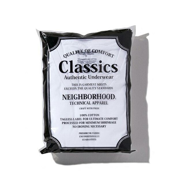 【EST O】Neighborhood Classic 圓領素tee (3件裝) 白 G0920 0