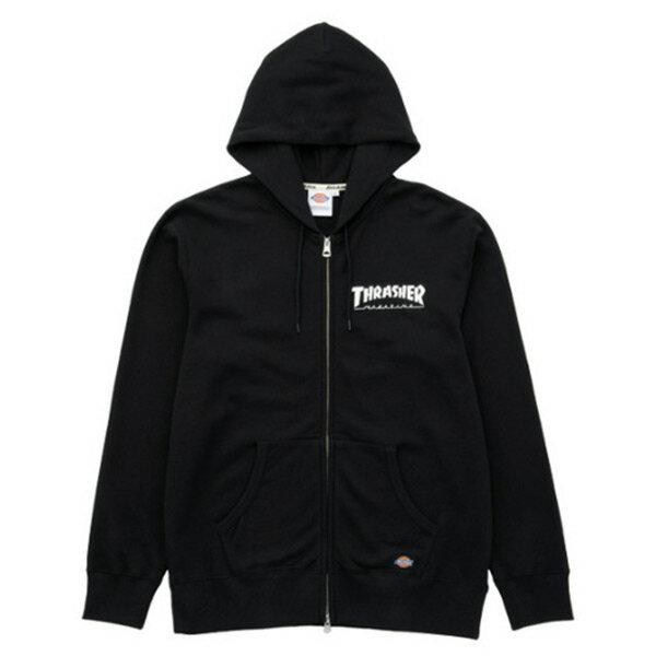 【EST O】Dickies x Thrasher hoodie coat 聯名款 火焰 連帽 外套 黑 H0802