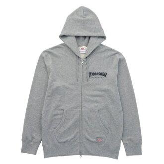 【EST O】Dickies x Thrasher hoodie coat 聯名款 火焰 連帽 外套 灰 H0802