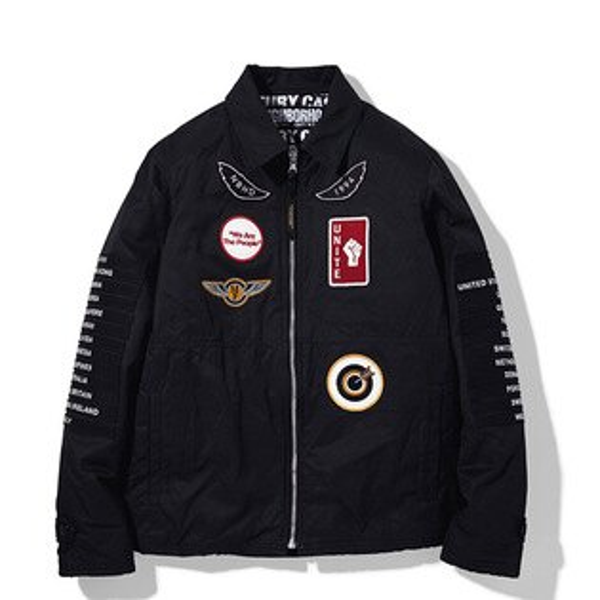 【ESTO】NeighborhoodFIXX.PWC-JKTNBHD貼布飛行夾克外套黑H1016